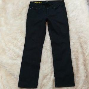 J CREW Straight Leg Matchstick Black Jeans Size 29